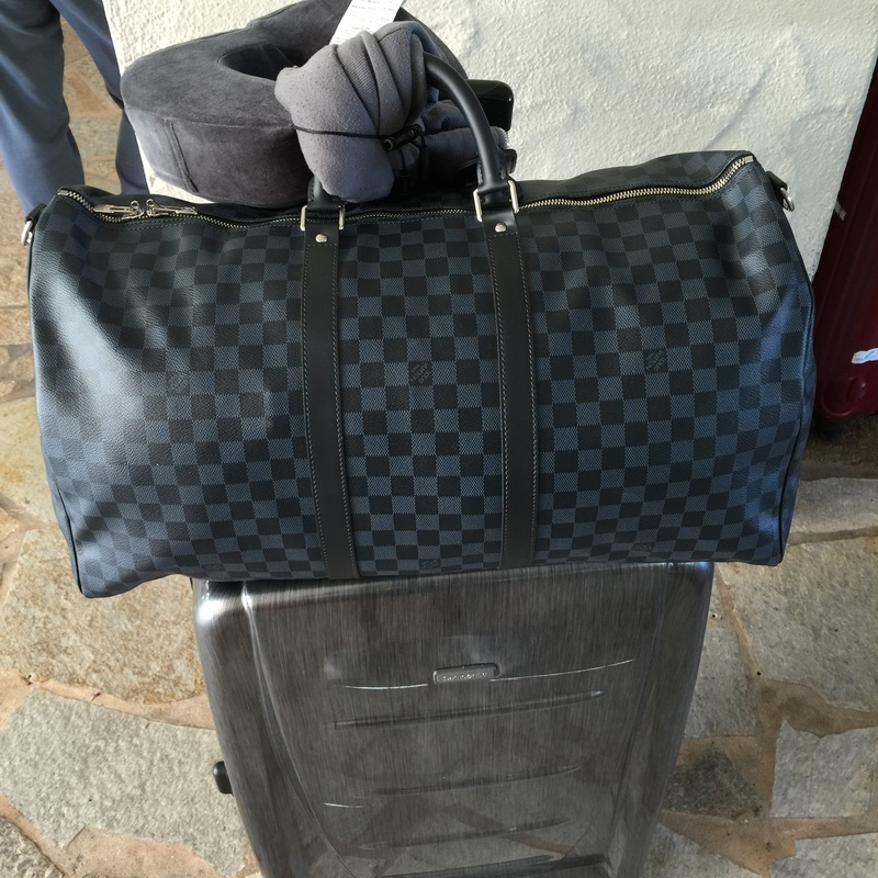 dabf3e6ab2d3 Another Louis Vuitton Keepall 55 in Damier Cobalt Canvas. I love the blue  tint to this bag